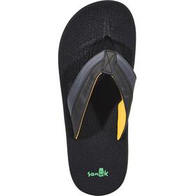 Sanük Brumeister Sandals Men Black/Charcoal/Orange